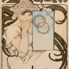 Alfons Mucha, Návrh na plakát vlastní výstavy v Salon des Cent, 1897