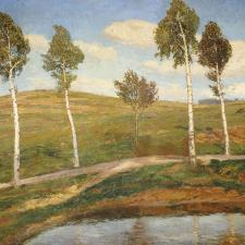Antonín Slavíček, Silnice / Krajina z Kameniček, 1903–1904
