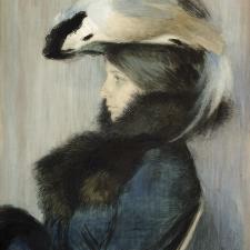 Max Švabinský: Ela v klobouku (1904)