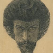 Karel Hlaváček, Můj Kristus, (Autoportrét), 1897, OUS PNP