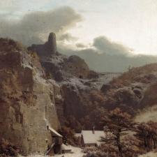 Adolf Kosárek: Zimní večer (1859)