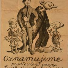 Skupa Josef, Plakát Kašpárek, Švejk, Spejbl, Hurvínek, po 1926, litografie, G 1205